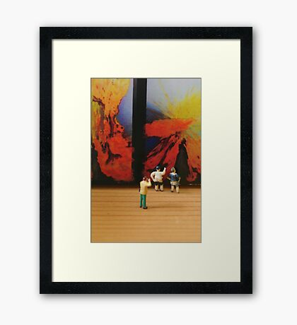 What John really wanted to create was a diptych, but ended up with a double exposure. Framed Print