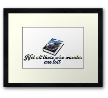 Tolkein-Inspired Quote Framed Print
