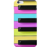 Retro Neon Keyboard iPhone Case/Skin