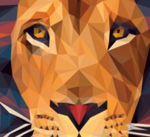 Low-poly Lion Sticker