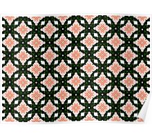 Diamond rose quilt pattern Poster