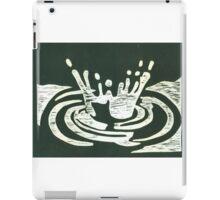 Black and White Raindrop #1 iPad Case/Skin