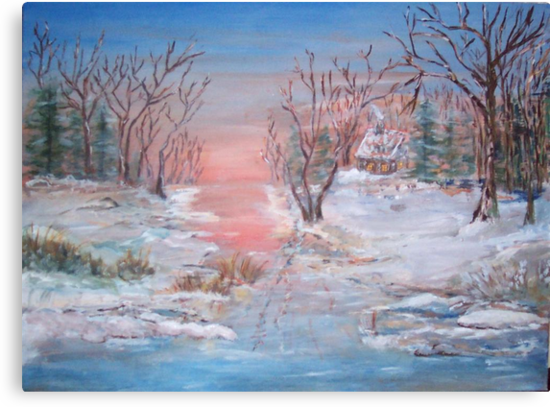 Cold Sunset by Mary Sedici