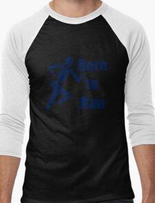 Born to run running boys bike race blue geek funny nerd T-Shirt