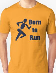 Born to run running boys bike race blue geek funny nerd T-Shirt