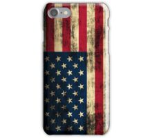 Rustic Patriotic American Flag iPhone Case/Skin