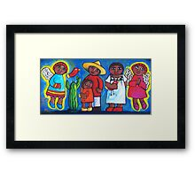 MEXICAN ANGELS AND LOVEBIRDS  Framed Print