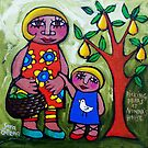 PICKING  PEARS  AT  NONNA'S  HOUSE  by ART PRINTS ONLINE         by artist SARA  CATENA