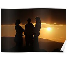the three graces at sunset Poster