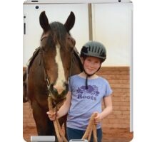 Holly and TG ready to ride! iPad Case/Skin