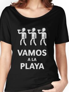 Vamos A La Playa (Beachparty / White) Women's Relaxed Fit T-Shirt