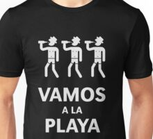 Vamos A La Playa (Beachparty / White) Unisex T-Shirt
