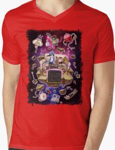 Regular Show Lost in Universe Mens V-Neck T-Shirt