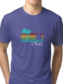 Cabo san lucas distressed geek funny nerd Tri-blend T-Shirt