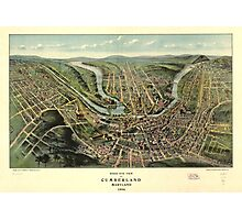 Bird's eye view of Cumberland Maryland (1906) Photographic Print