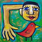 SCOOPING UP THE LOVEBIRD  by ART PRINTS ONLINE         by artist SARA  CATENA