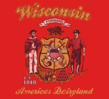 Vintage Wisconsin American Dairyland  One Piece - Short Sleeve
