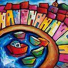 ST. TROPEZ   - FRANCE by ART PRINTS ONLINE         by artist SARA  CATENA