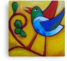 SUNDAYS  LOVEBIRD  Canvas Print