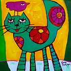 THE  LOVE  CAT  by ART PRINTS ONLINE         by artist SARA  CATENA