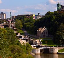 Rideau Canal Locks - Ottawa by Josef Pittner
