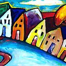VILLAGE IN TUSCANY - ITALY  by ART PRINTS ONLINE         by artist SARA  CATENA