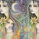 Night and Day Fantasy Art by Molly  Harrison