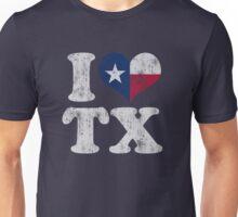 I Heart Texas Flag TX Unisex T-Shirt