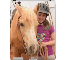 Brook and Sue ready to ride! iPad Case/Skin