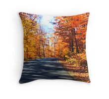 An October Drive Throw Pillow