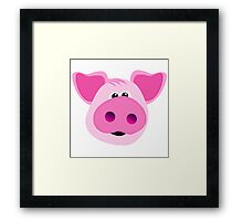 Big Pink Piggy! Framed Print