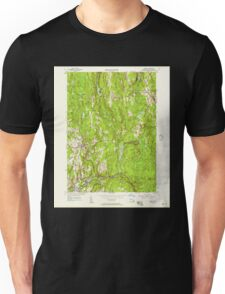Massachusetts  USGS Historical Topo Map MA Barre 349982 1954 24000 Unisex T-Shirt