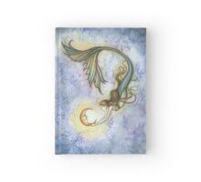 Deep Sea Moon Mermaid Fantasy Art Illustration Hardcover Journal