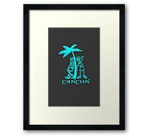 Cancun vacation geek funny nerd Framed Print