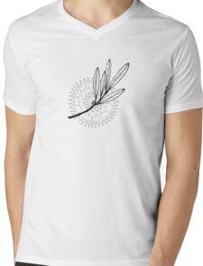 Aura Botanica 3 Mens V-Neck T-Shirt