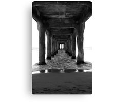 A View from under the Pier Canvas Print