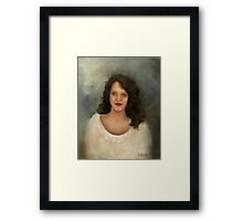 THE GIRL WITH THE OLIVE GREEN EYES Framed Print