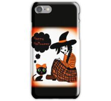 Anime Sitting Halloween Witch iPhone Case/Skin