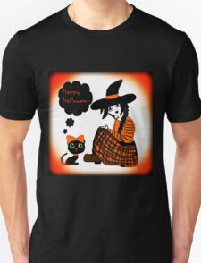 Anime Sitting Halloween Witch Unisex T-Shirt