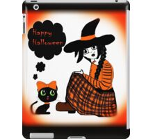 Anime Sitting Halloween Witch iPad Case/Skin
