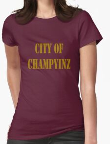 Champyinz city of geek funny nerd Womens Fitted T-Shirt
