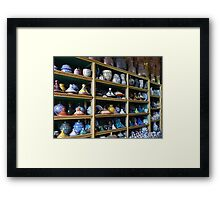 Wall of Pottery Framed Print