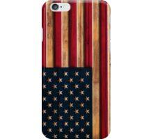 Vintage Distressed American Flag Wood Look iPhone Case/Skin