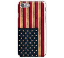 Vintage Distressed American Flag Wood Look iPhone Case/Skin