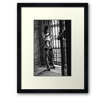 Fag Break Framed Print