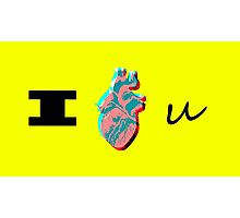 """I Love You"", Human Heart Photographic Print"