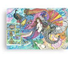 Fantasy Mermaid World Canvas Print