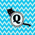 Q Cat Chevron Monogram by gretzky