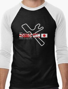 Team Rising Sun - Black Tshirt Version Men's Baseball ¾ T-Shirt