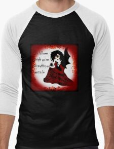 Anime Vampiress Men's Baseball ¾ T-Shirt